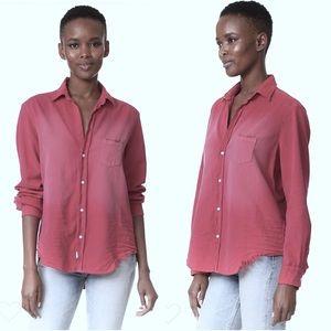 Frank & Eileen Tattered Denim Shirt XS